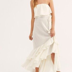 Free People Tavia Dress Summer White Tube Ruffle